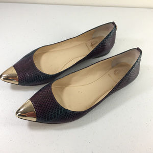 Vince Camuto Signature 6 Ombre Snakeskin Ballet